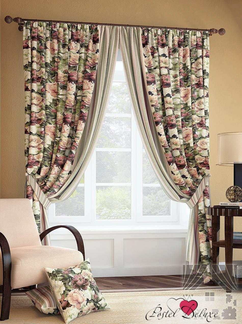 Шторы ТомДом Классические шторы Хайнс Цвет: Бежево-Зеленый шторы tac классические шторы winx цвет персиковый 200x265 см