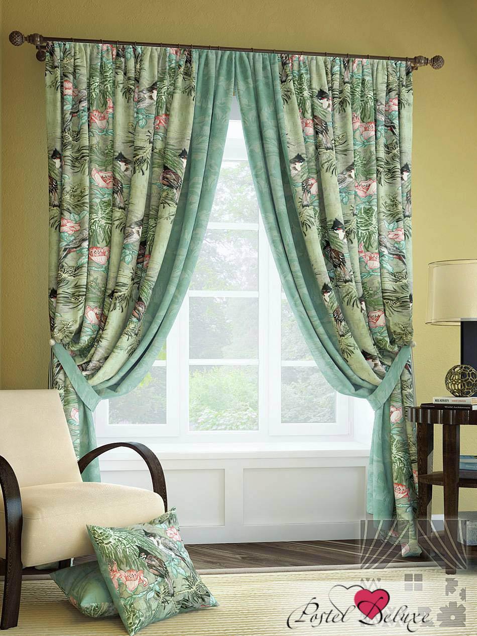 Шторы ТомДом Классические шторы Зотекс Цвет: Бирюзовый шторы томдом классические шторы керид цвет бирюзовый