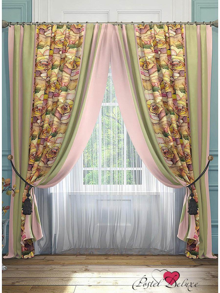 Шторы ТомДом Классические шторы Орга Цвет: Зеленый