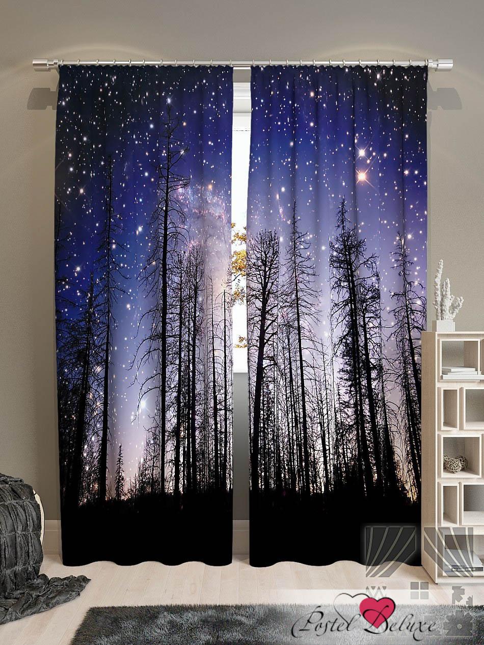 Шторы ТомДом Фотошторы Звездное Небо брюки котмаркот штанишки звездное небо