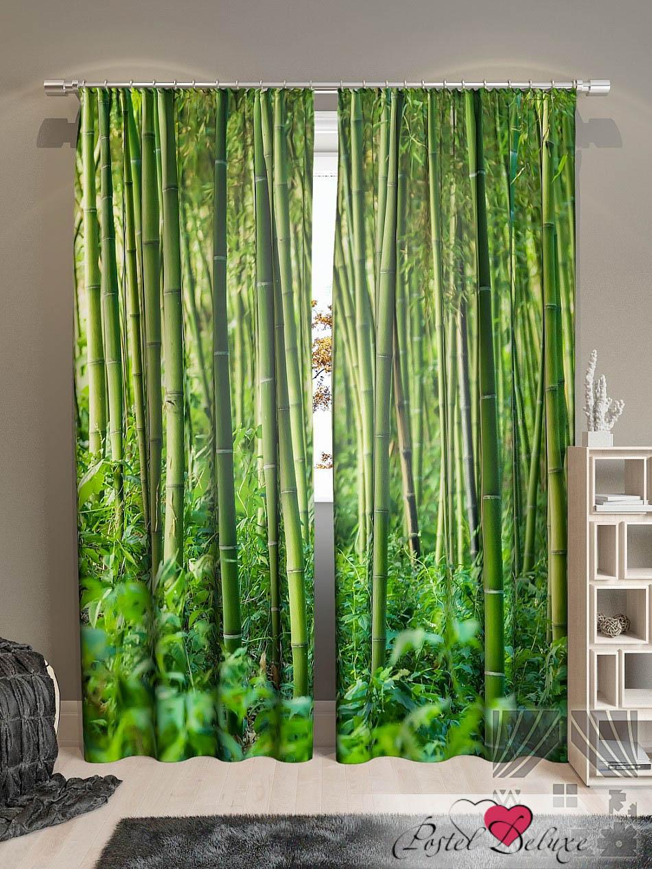 Шторы ТомДом Фотошторы Бамбуковые Джунгли