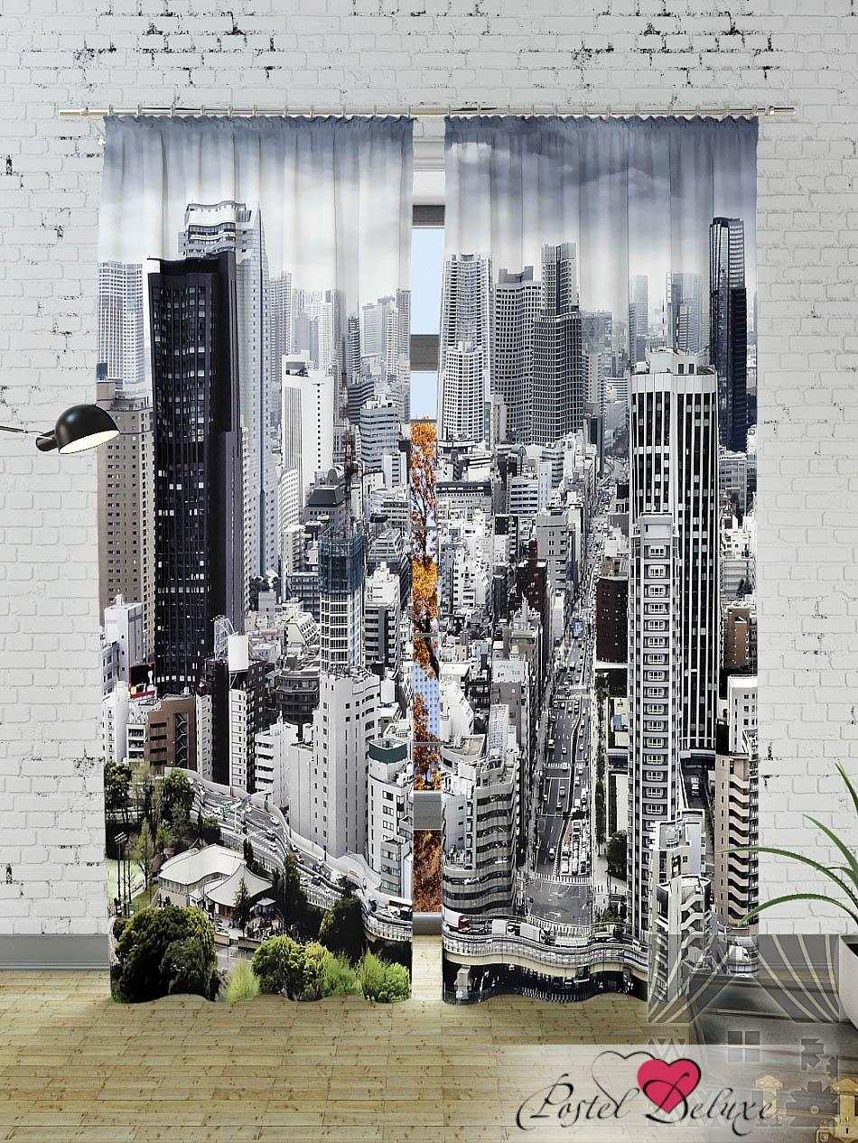 Шторы ТомДом Фотошторы Азиатский Мегаполис (Сиреневые Тона) шторы томдом фотошторы планетарный мегаполис