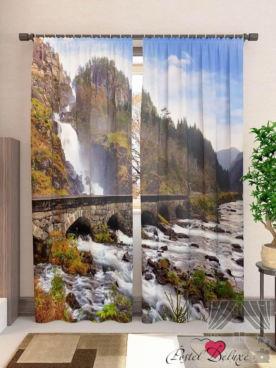 Шторы ТомДом Фотошторы Водопад В Норвегии