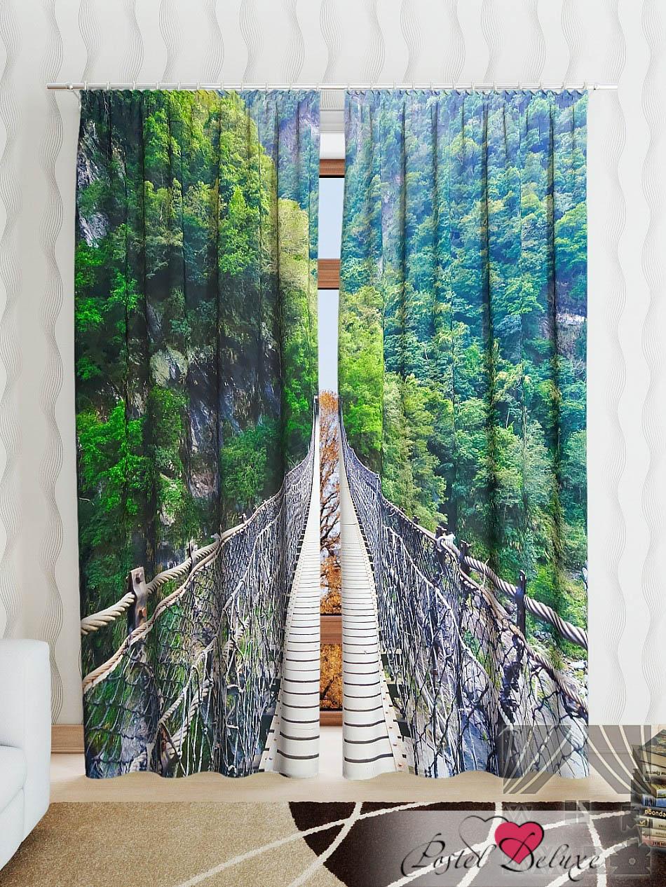 Шторы ТомДом Фотошторы Навесной Мост В Горы