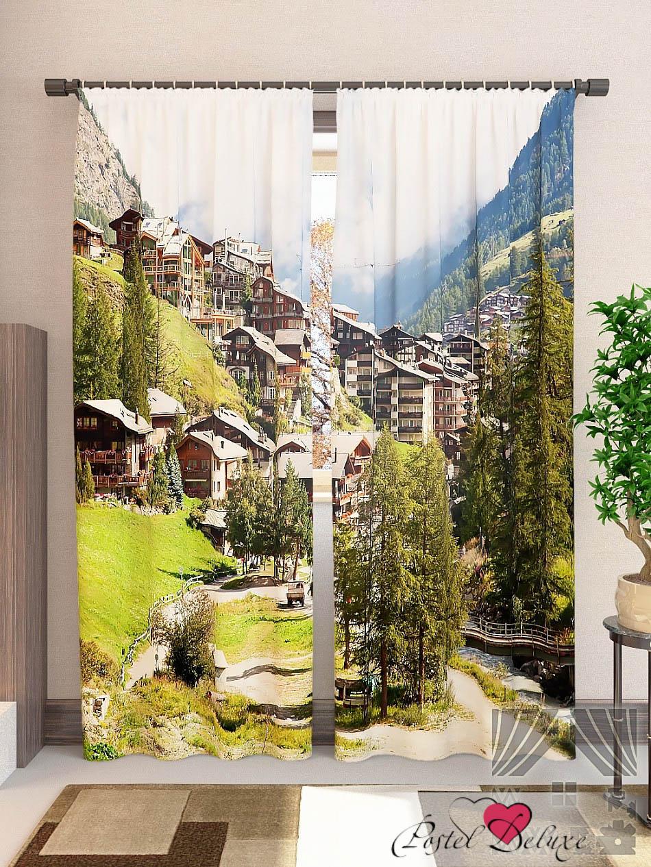 Шторы ТомДом Фотошторы Город В Альпах фотошторы дом в альпах