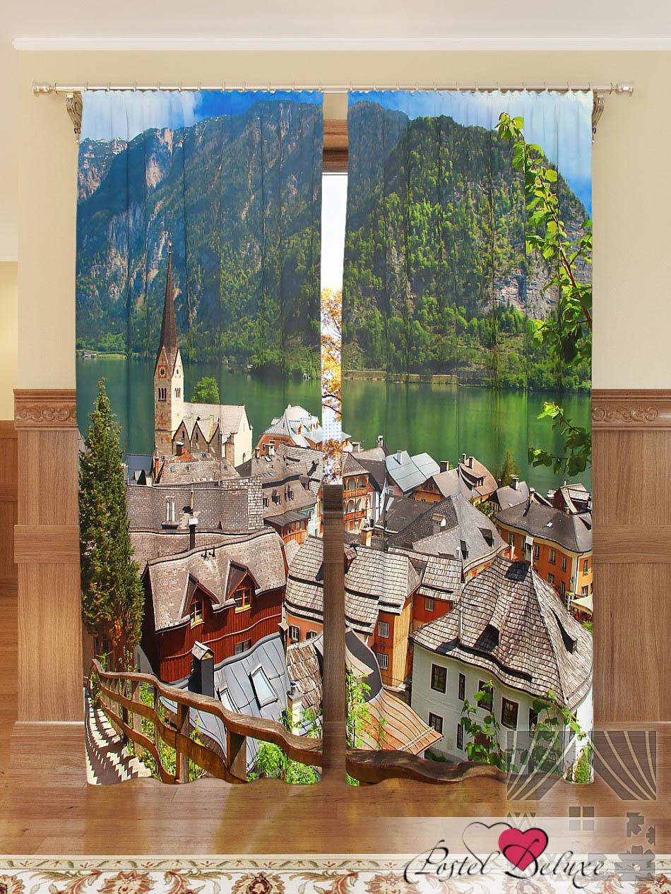 Шторы ТомДом Фотошторы Уютный Город В Альпах фотошторы дом в альпах