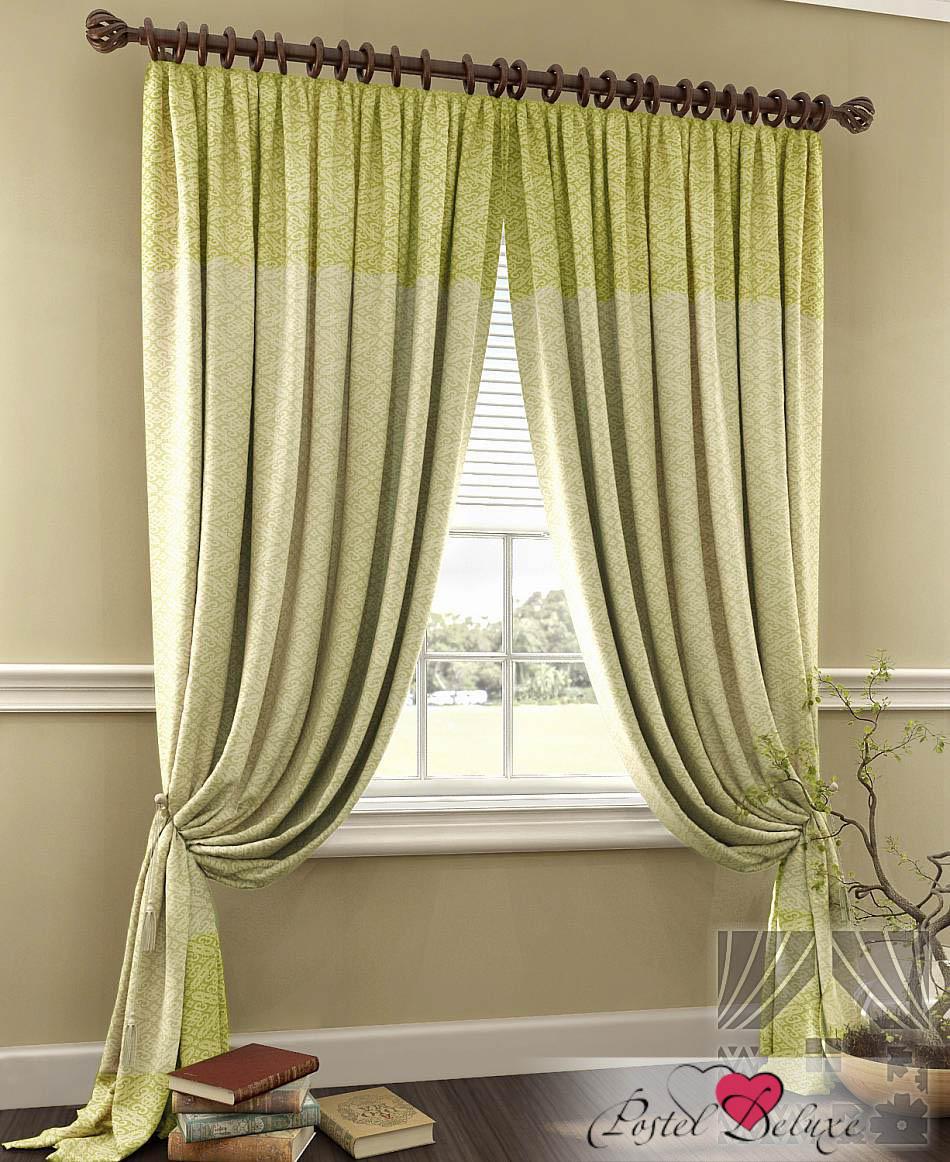 Шторы ТомДом Классические шторы Вульф Цвет: Зеленый
