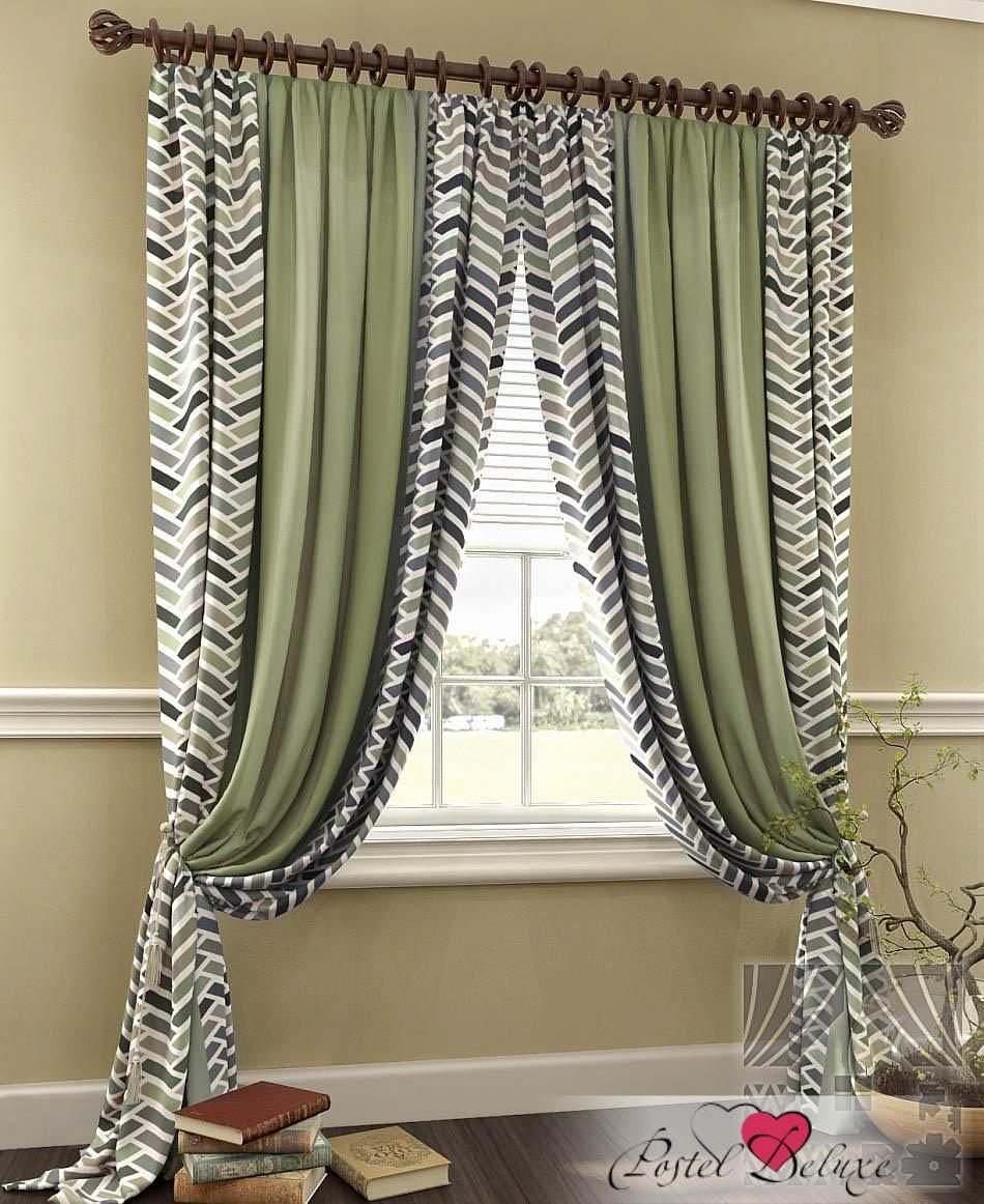 Шторы ТомДом Классические шторы Грейт Цвет: Зеленый шторы tac классические шторы winx цвет персиковый 200x265 см