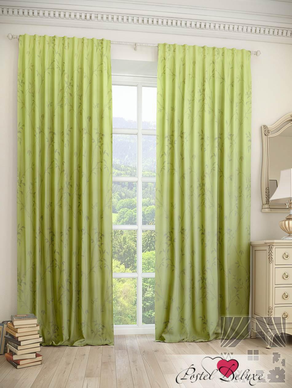 Шторы ТомДом Классические шторы Шпит Цвет: Зеленый шторы tac классические шторы winx цвет персиковый 200x265 см