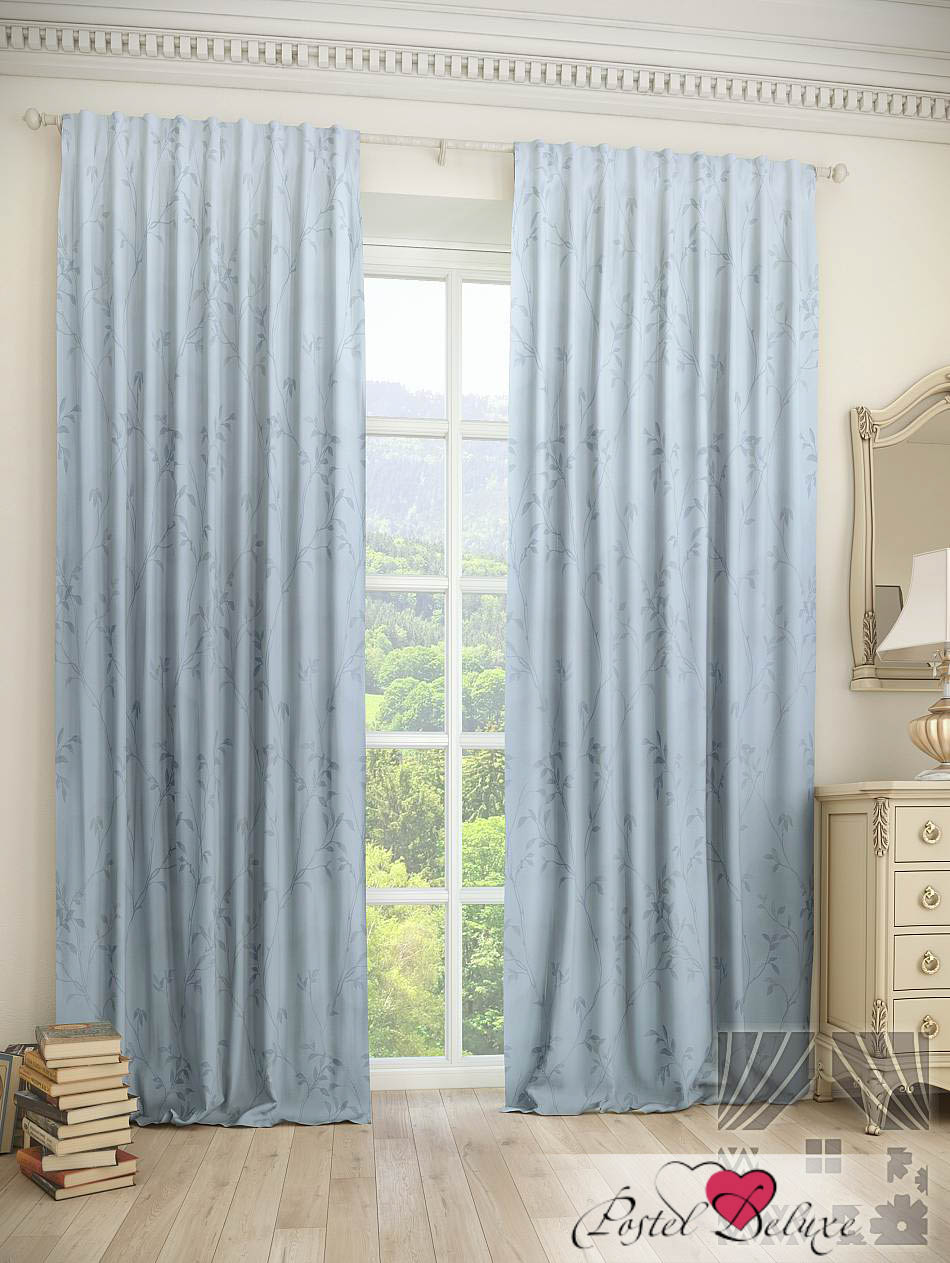 Шторы ТомДом Классические шторы Шпит Цвет: Голубой шторы tac классические шторы winx цвет персиковый 200x265 см