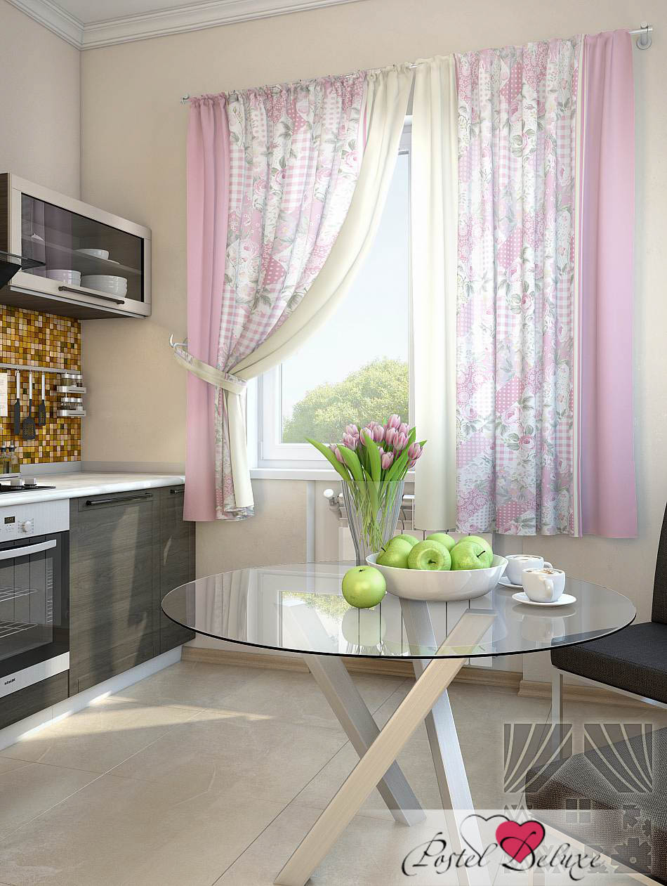 Шторы ТомДом Классические шторы Алиб Цвет: Розовый