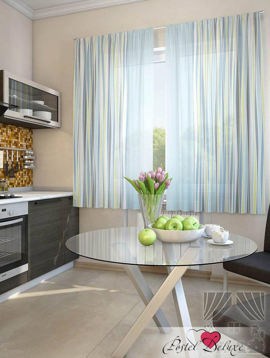 Шторы ТомДом Классические шторы Лекин Цвет: Голубой шторы tac классические шторы winx цвет персиковый 200x265 см
