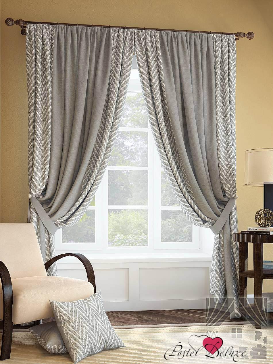 Шторы ТомДом Классические шторы Менак Цвет: Серый шторы tac классические шторы winx цвет персиковый 200x265 см