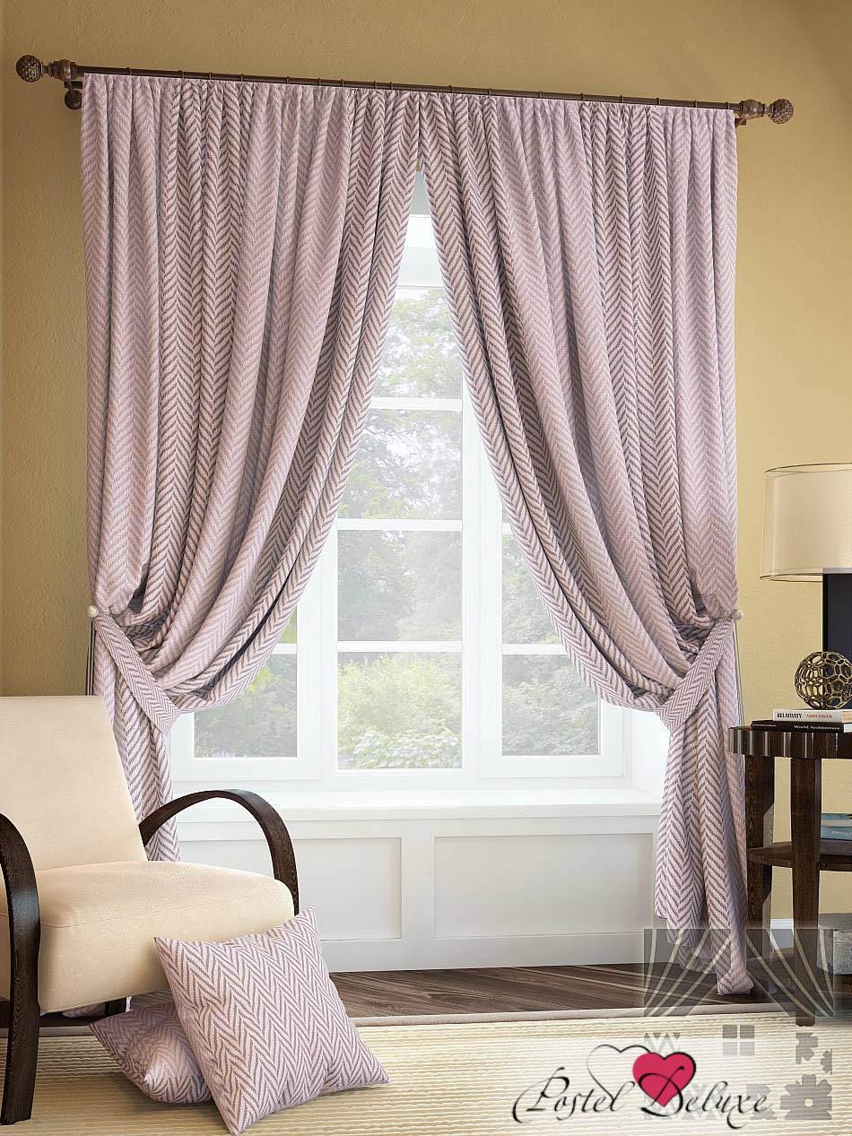 Шторы ТомДом Классические шторы Салет Цвет: Розово-Коричневый шторы tac классические шторы winx цвет персиковый 200x265 см