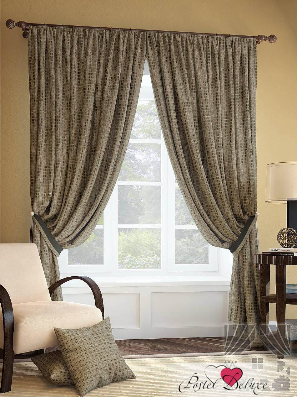 Шторы ТомДом Классические шторы Тайжо Цвет: Коричневый шторы tac классические шторы winx цвет персиковый 200x265 см