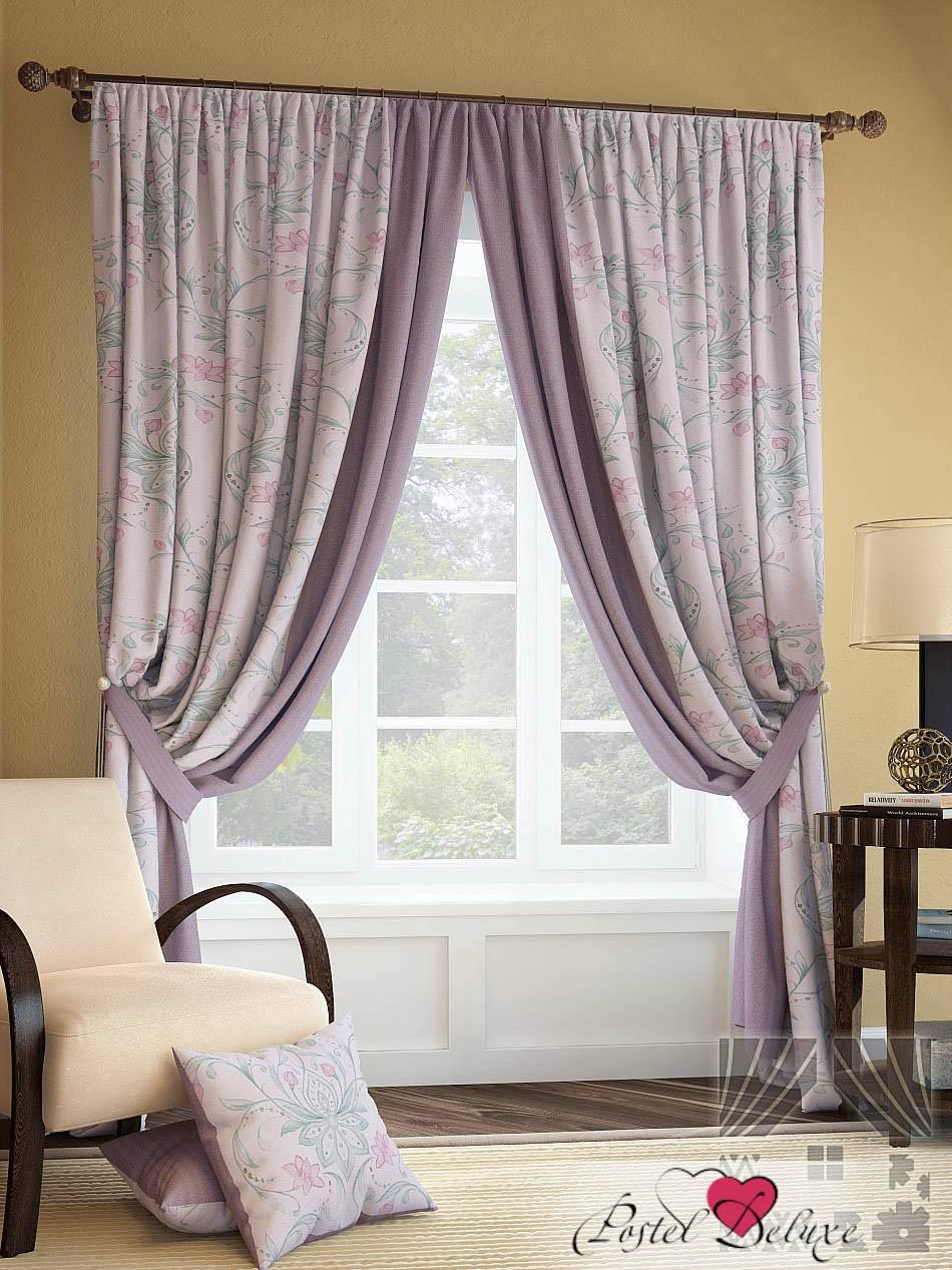 Шторы ТомДом Классические шторы Инцас Цвет: Розово-Фиолетовый