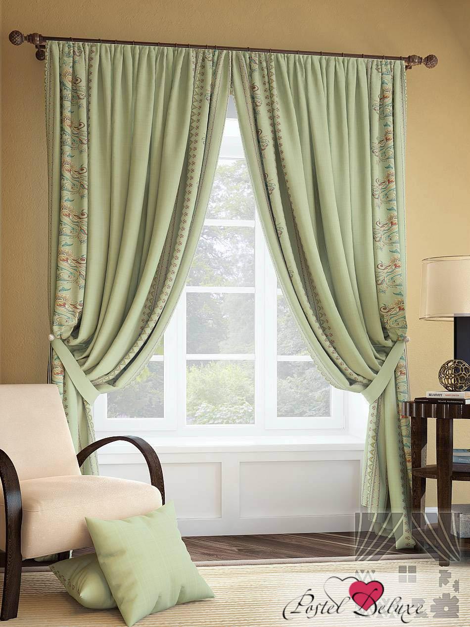 Шторы ТомДом Классические шторы Каинц Цвет: Зеленый шторы tac классические шторы winx цвет персиковый 200x265 см