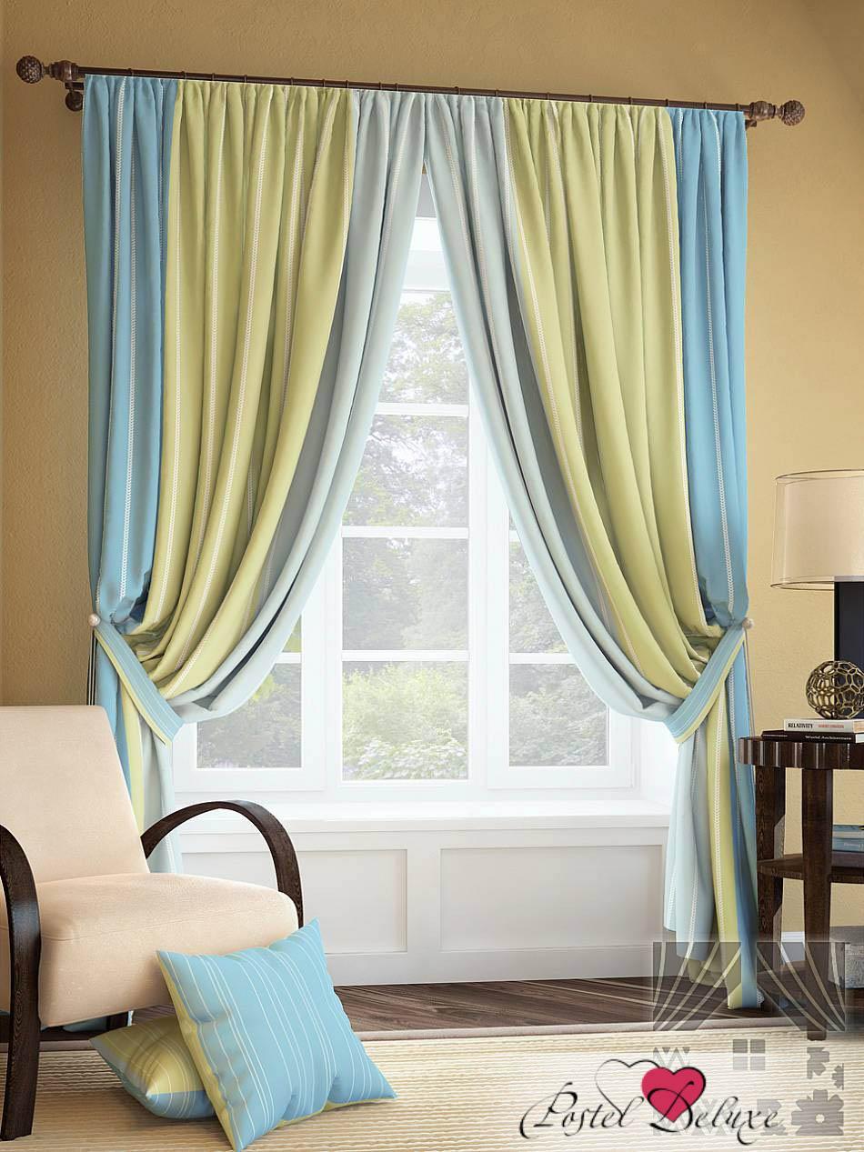 Шторы ТомДом Классические шторы Годс Цвет: Голубой шторы tac классические шторы winx цвет персиковый 200x265 см