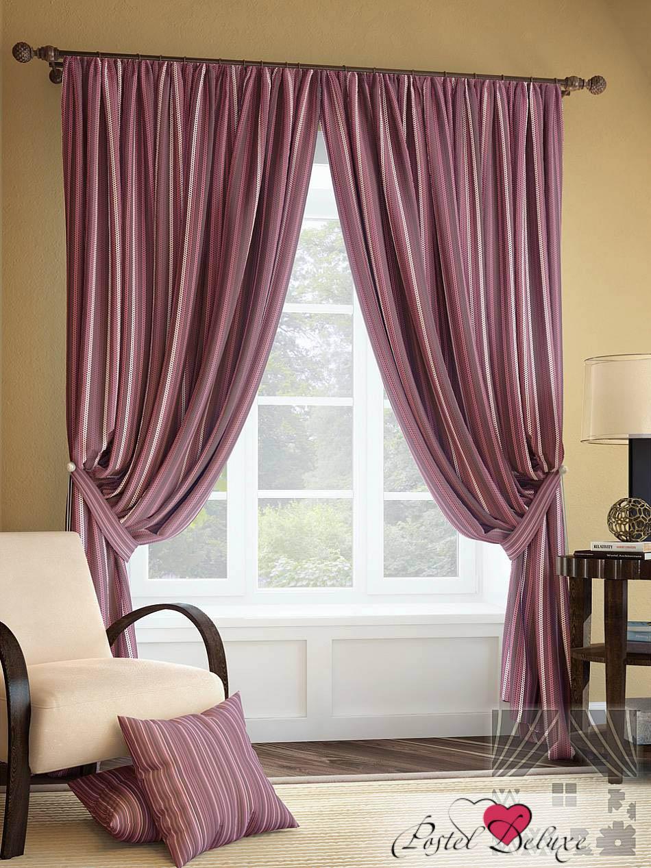 Шторы ТомДом Классические шторы Палис Цвет: Брусничный шторы tac классические шторы winx цвет персиковый 200x265 см