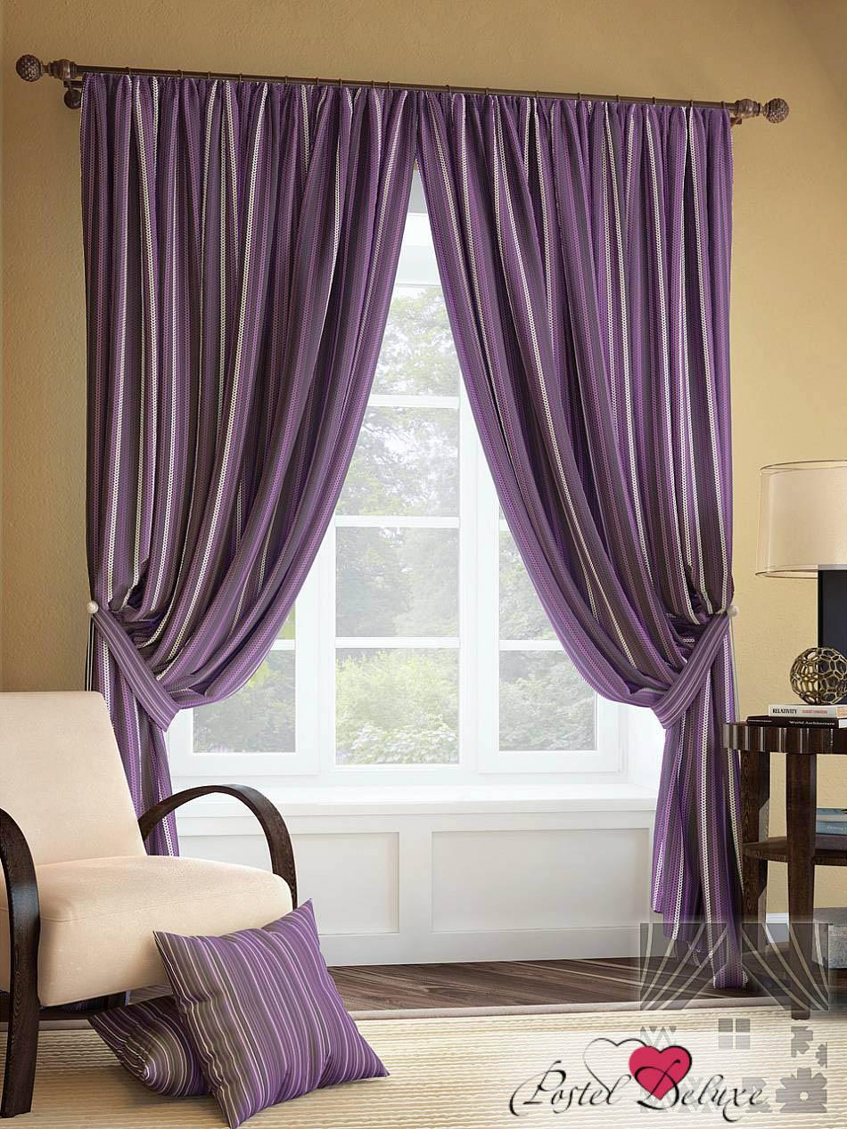 Шторы ТомДом Классические шторы Палис Цвет: Фиолетовый