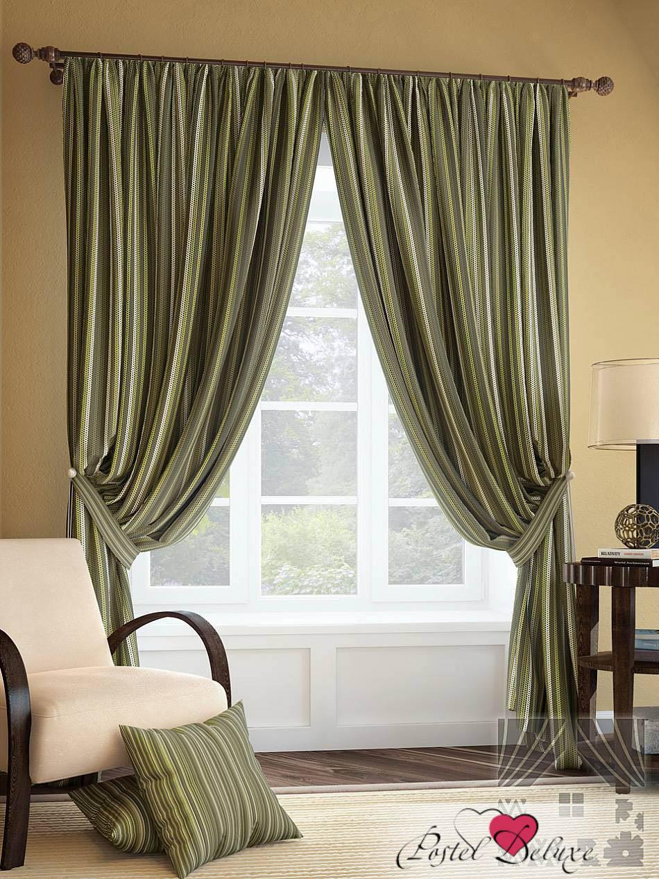 Шторы ТомДом Классические шторы Палис Цвет: Зеленый
