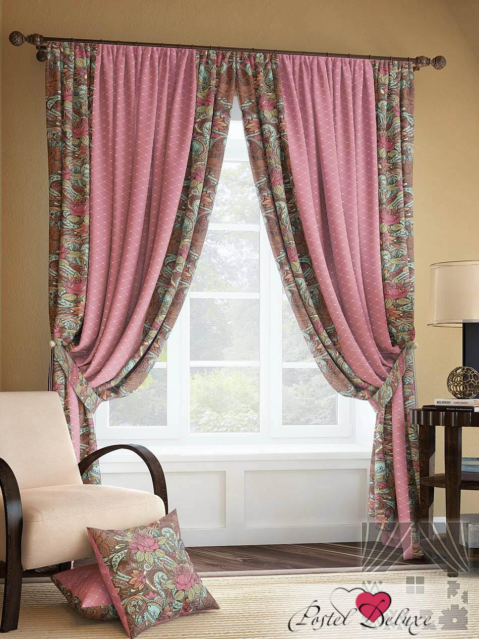 Шторы ТомДом Классические шторы Розиус Цвет: Розово-Коричневый шторы tac классические шторы winx цвет персиковый 200x265 см