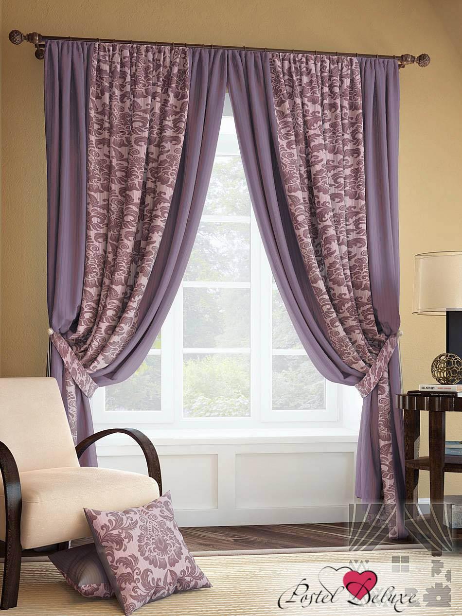 Шторы ТомДом Классические шторы Иналда Цвет: Фиолетовый