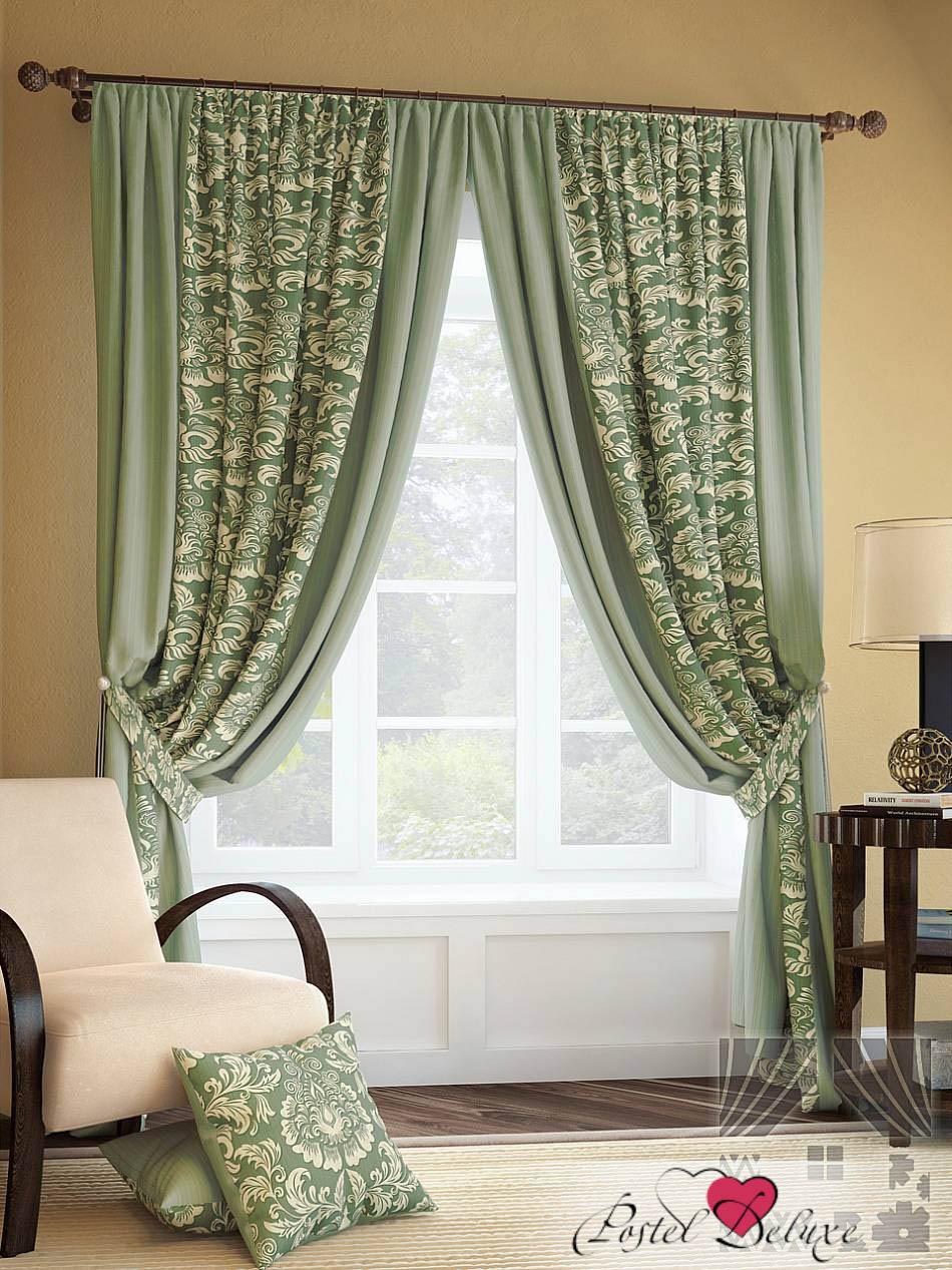 Шторы ТомДом Классические шторы Иналда Цвет: Зеленый шторы tac классические шторы winx цвет персиковый 200x265 см