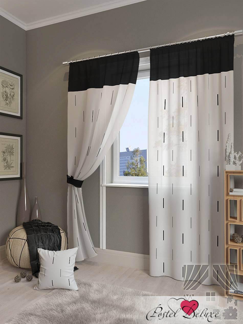 Шторы ТомДом Классические шторы Елист Цвет: Черный шторы tac классические шторы winx цвет персиковый 200x265 см