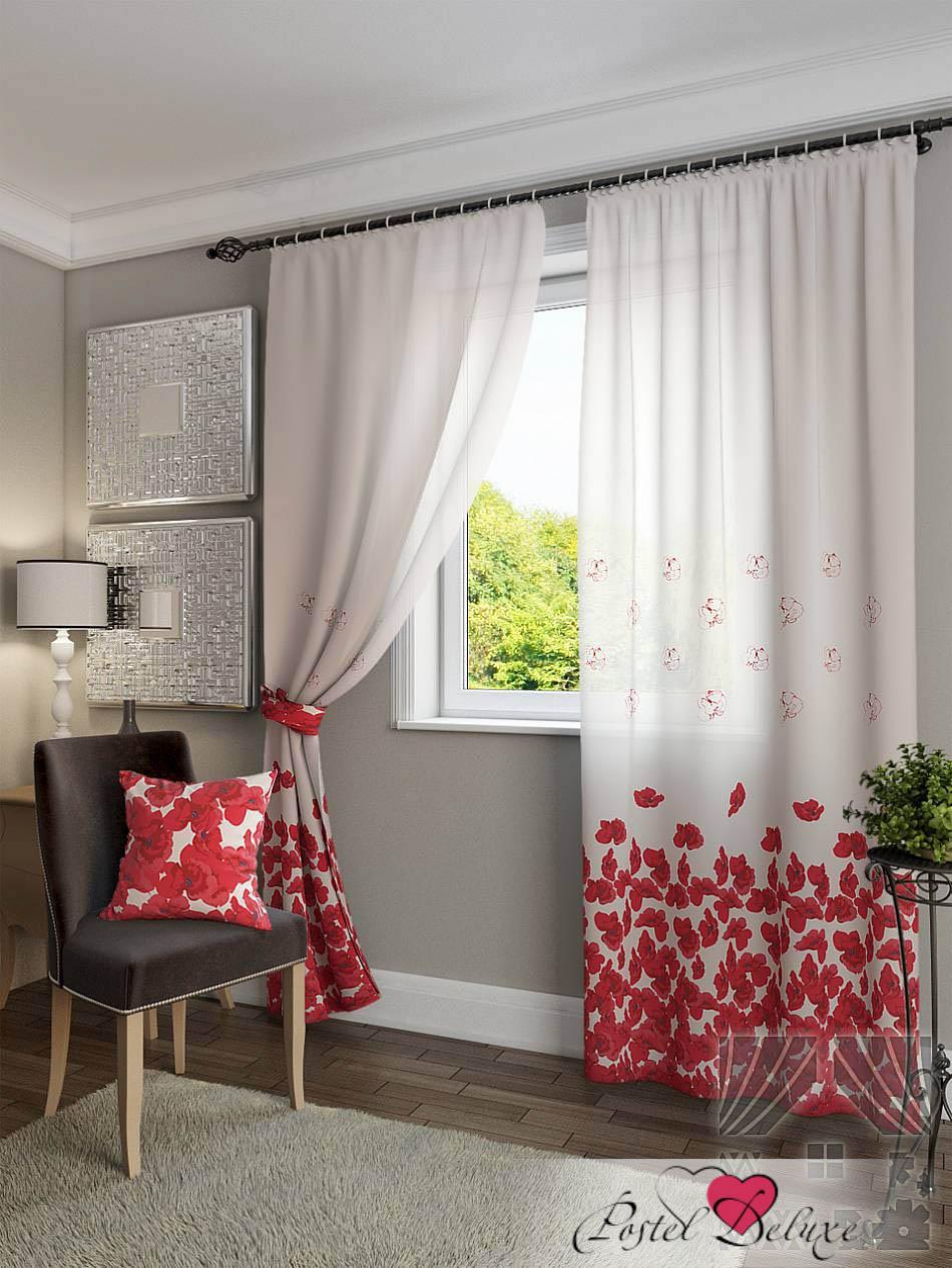 Шторы ТомДом Классические шторы Латра Цвет: Красный шторы томдом классические шторы менак цвет пыльная роза