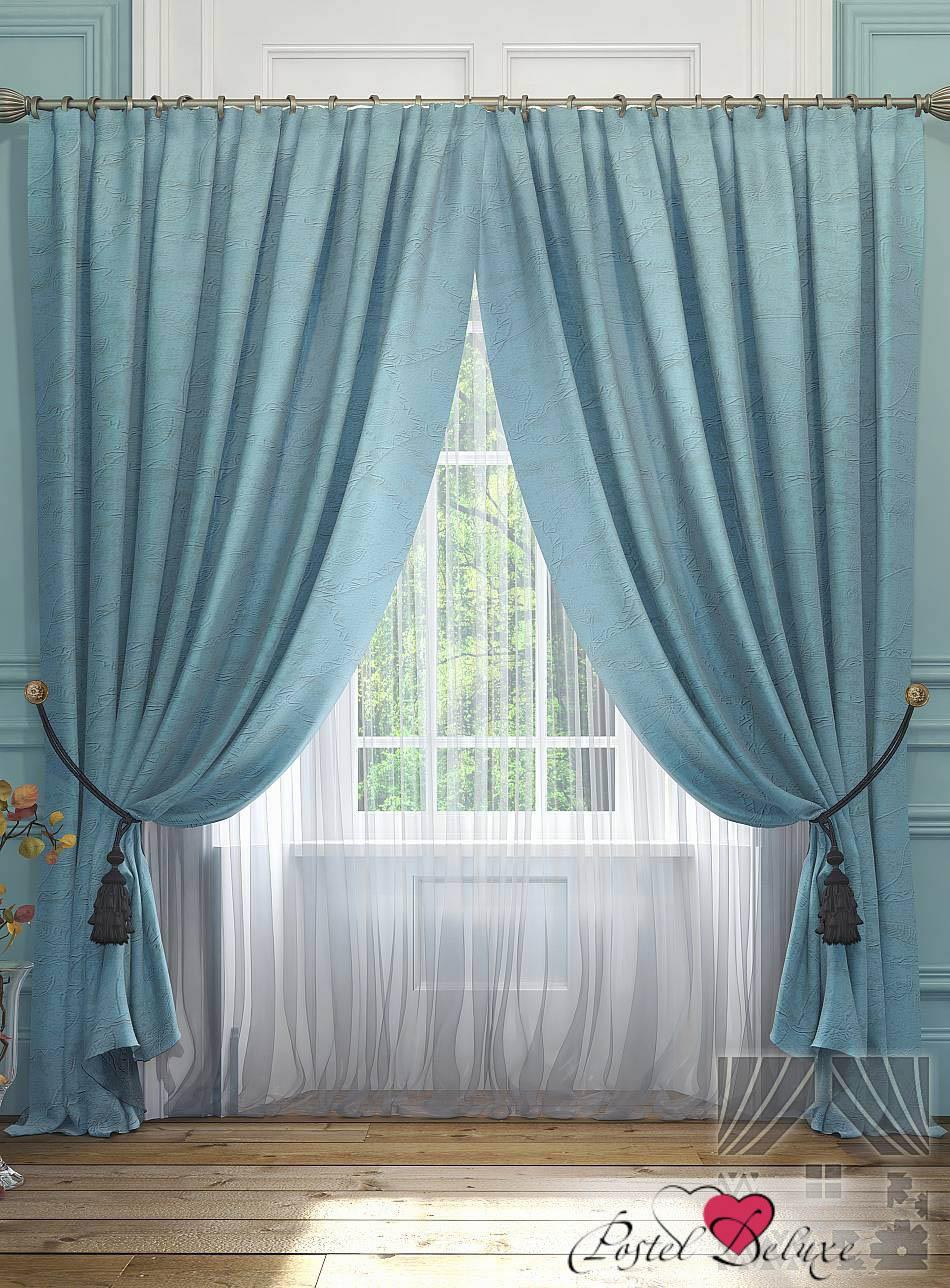 Шторы ТомДом Классические шторы Элисс Цвет: Голубой