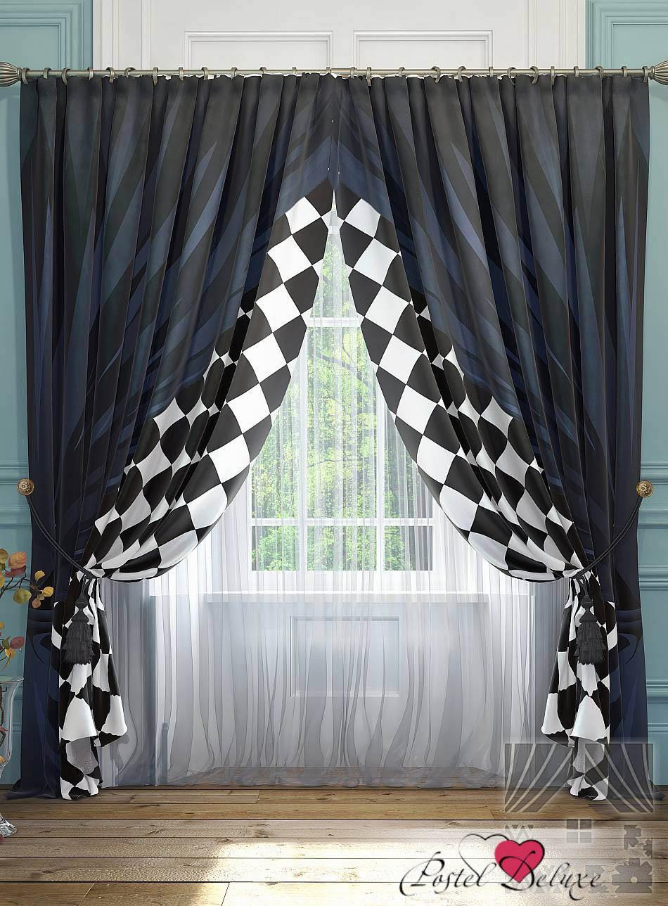 Шторы ТомДом Классические шторы Танто Цвет: Синий шторы tac классические шторы winx цвет персиковый 200x265 см