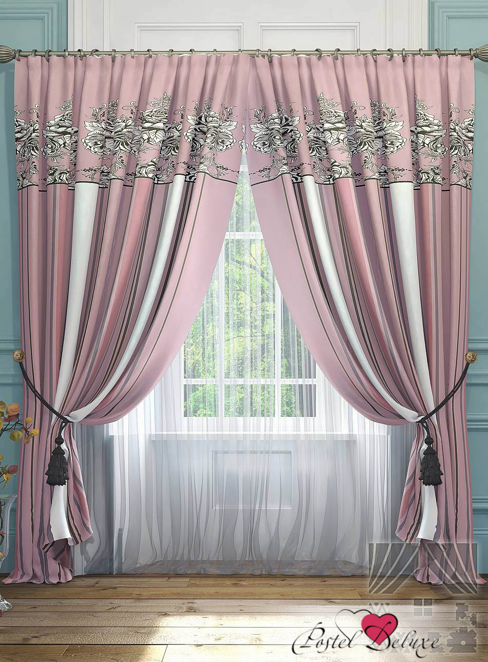Шторы ТомДом Классические шторы Серсея Цвет: Розовый шторы tac классические шторы winx цвет персиковый 200x265 см