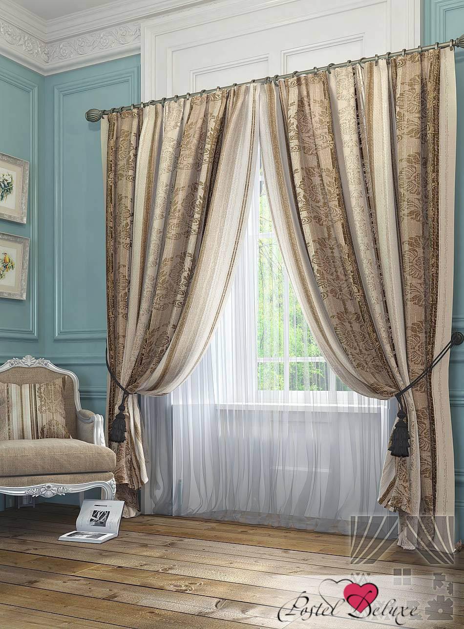 Шторы ТомДом Классические шторы Сент-Шапель Цвет: Коричневый шторы tac классические шторы winx цвет персиковый 200x265 см