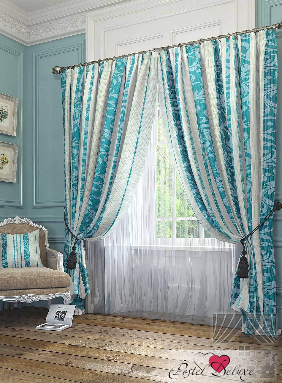 Шторы ТомДом Классические шторы Фарго Цвет: Синий