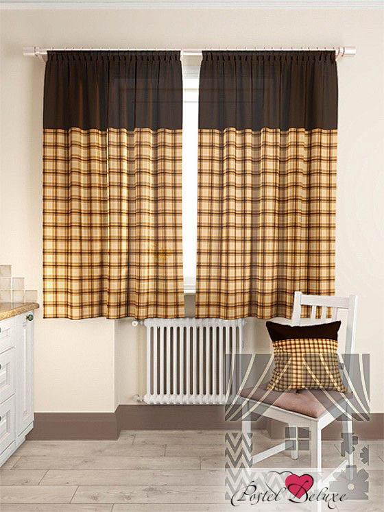 Шторы ТомДом Классические шторы Агапан Цвет: Коричневый