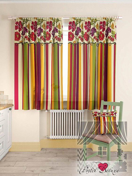 Шторы ТомДом Классические шторы Абель Цвет: Красный