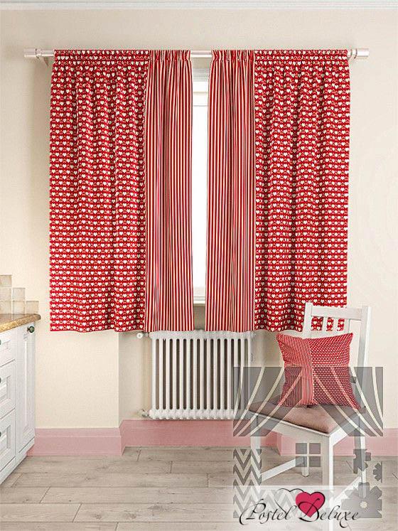 Шторы ТомДом Классические шторы Нетра Цвет: Красный шторы kauffort классические шторы barolo