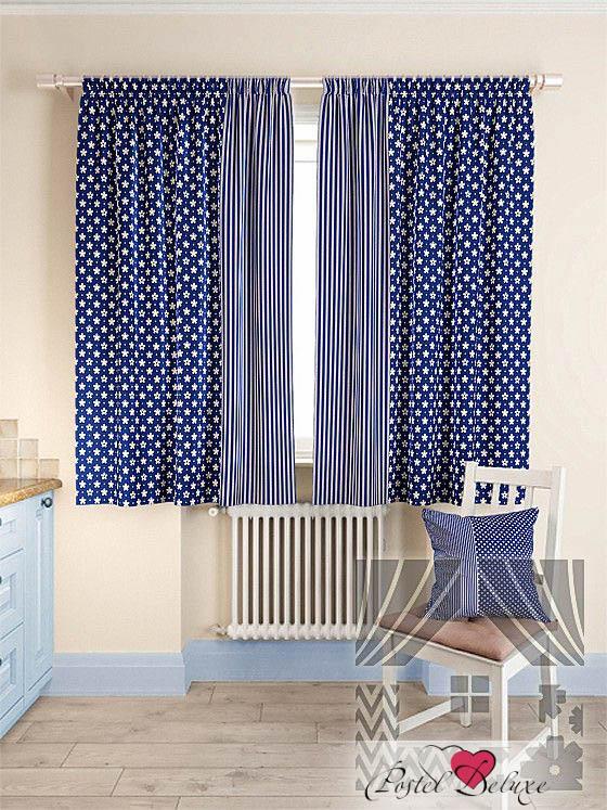 Шторы ТомДом Классические шторы Нетра Цвет: Синий шторы tac классические шторы winx цвет персиковый 200x265 см