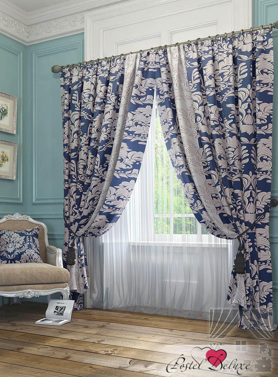 Шторы ТомДом Классические шторы Лючар Цвет: Синий шторы tac классические шторы winx цвет персиковый 200x265 см
