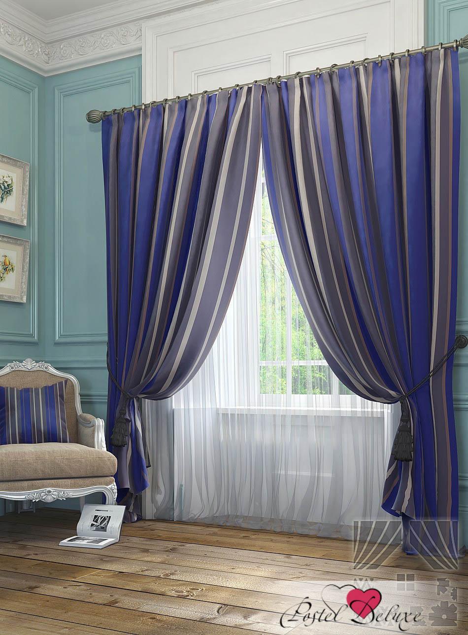 Шторы ТомДом Классические шторы Хайм Цвет: Синий