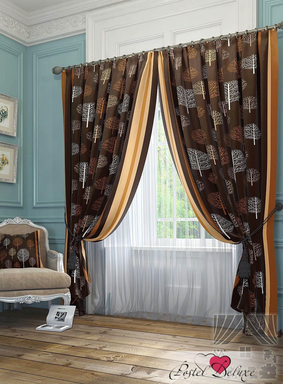 Шторы ТомДом Классические шторы Шарши Цвет: Коричневый