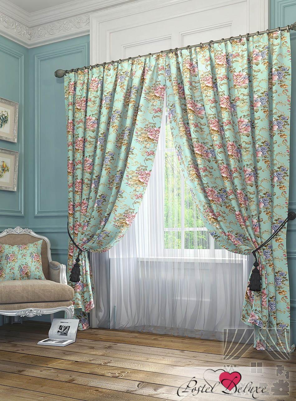Шторы ТомДом Классические шторы Цайли Цвет: Бирюзовый шторы томдом классические шторы керид цвет бирюзовый