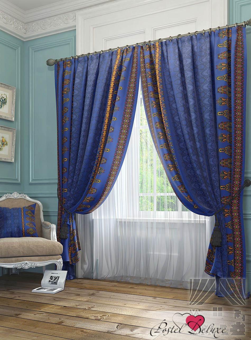 Шторы ТомДом Классические шторы Зайгас Цвет: Синий