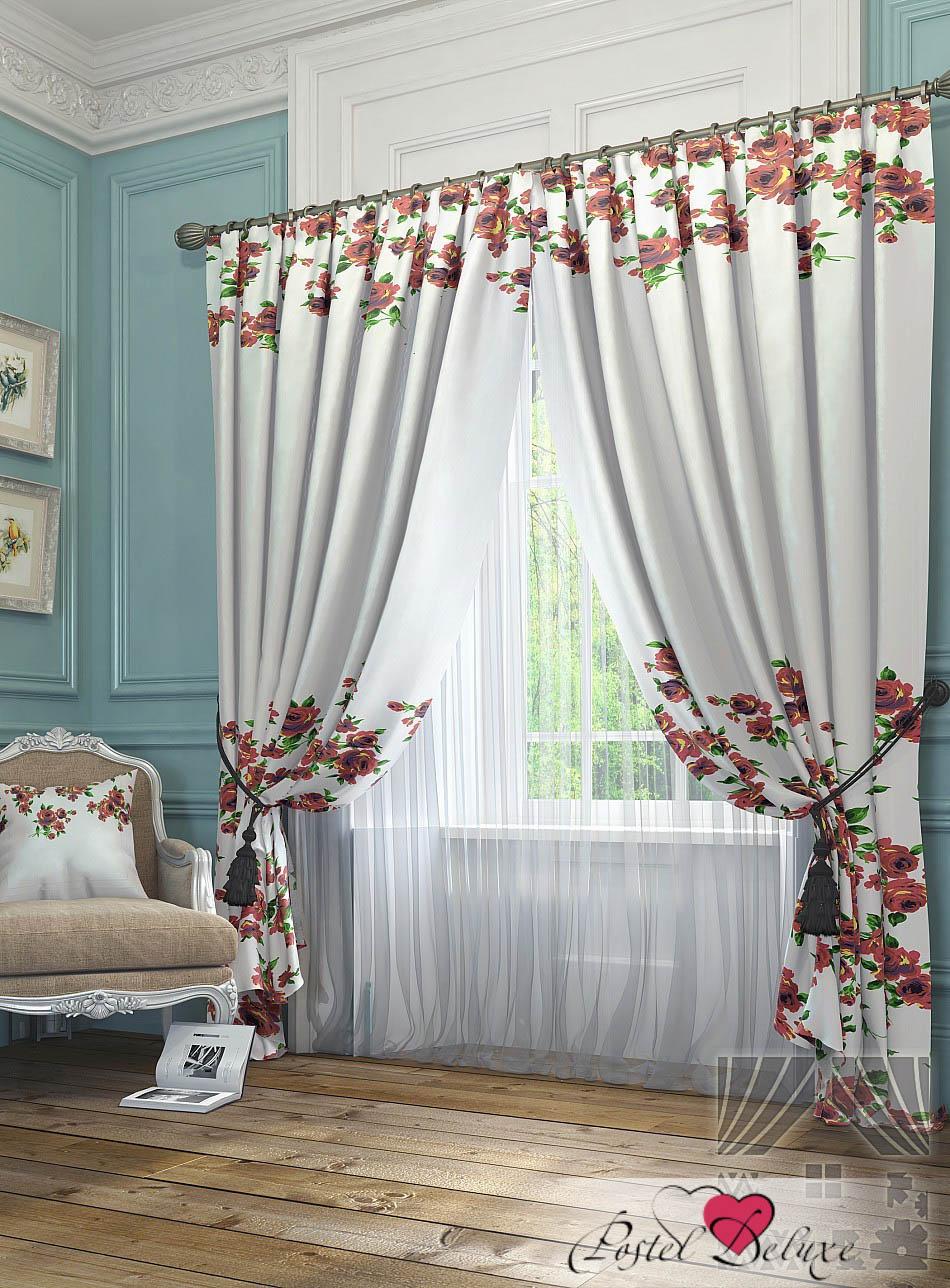 Шторы ТомДом Классические шторы Антро Цвет: Красный томдом томдом классические шторы абель цвет малиновый