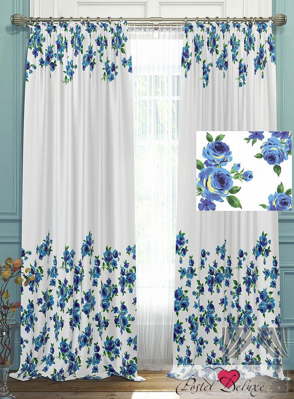 Шторы ТомДом Классические шторы Антро Цвет: Голубой