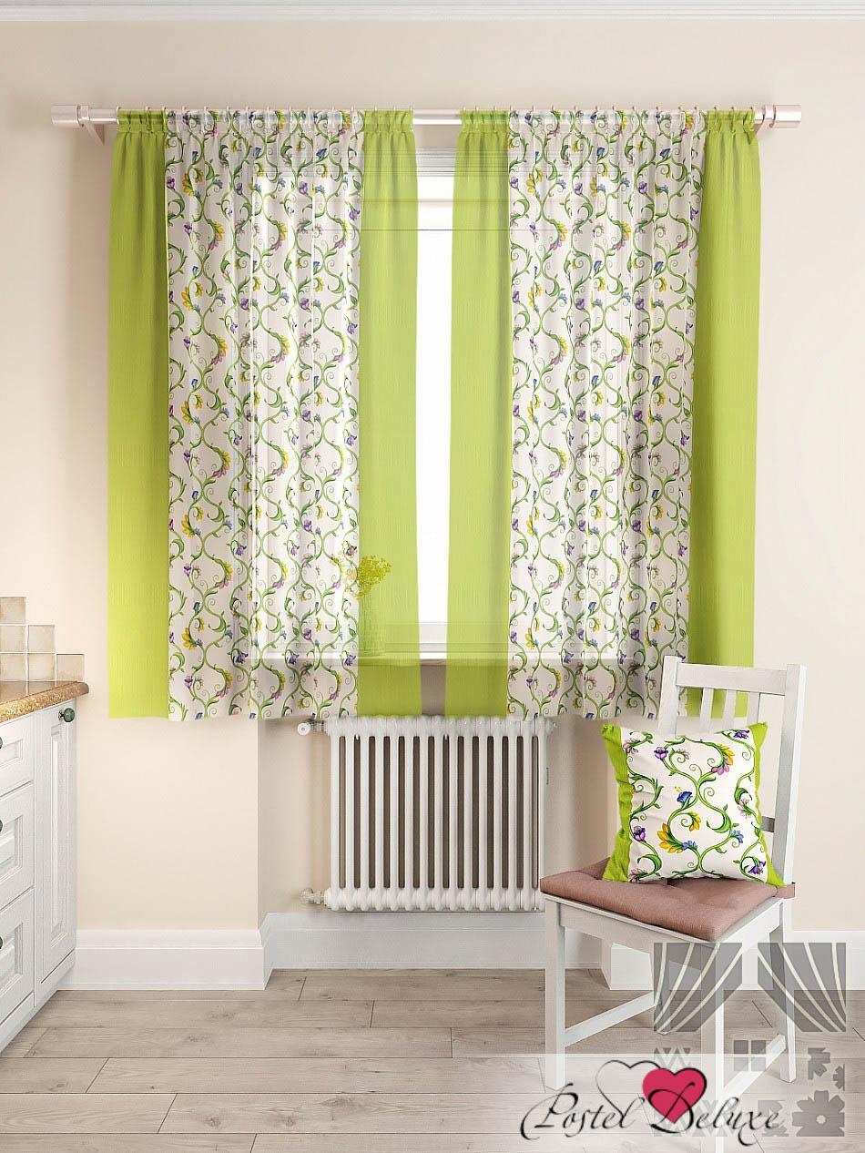 Шторы ТомДом Классические шторы Кулидж Цвет: Зеленый шторы tac классические шторы winx цвет персиковый 200x265 см