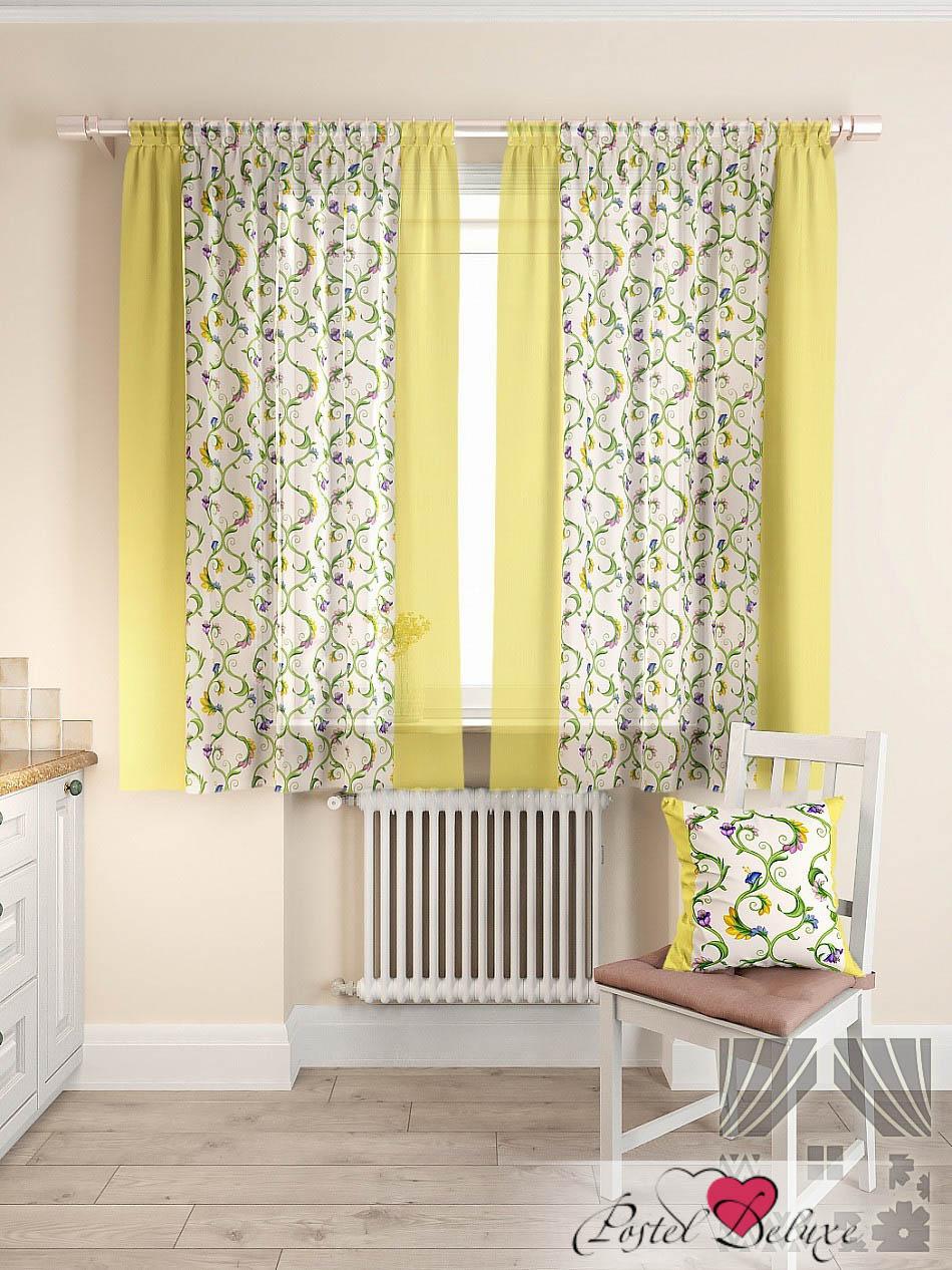Шторы ТомДом Классические шторы Кулидж Цвет: Желтый