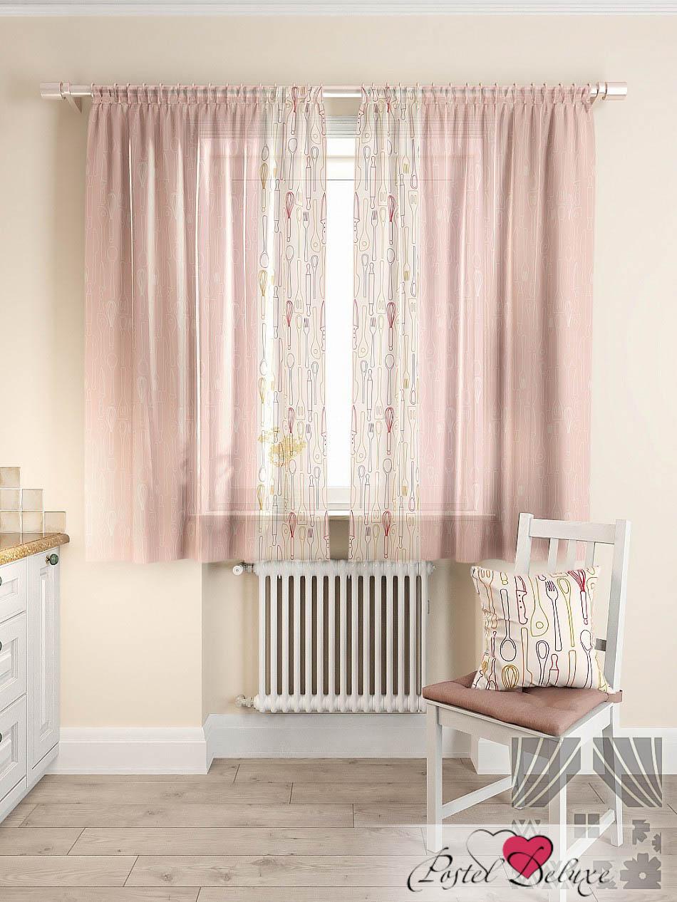 Шторы ТомДом Классические шторы Колхер Цвет: Розовый