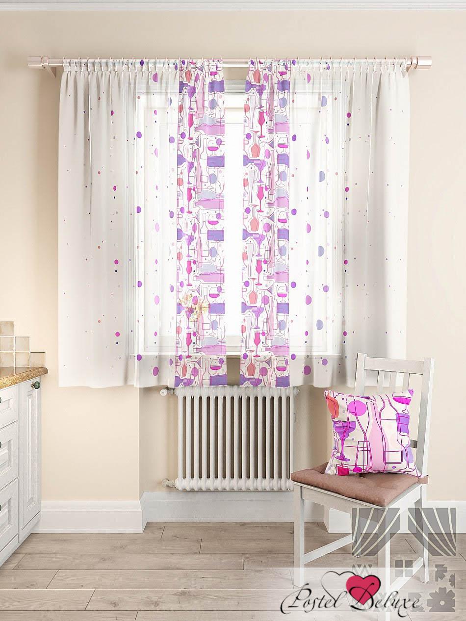 Шторы ТомДом Классические шторы Кринс Цвет: Фиолетовый шторы tac классические шторы winx цвет персиковый 200x265 см